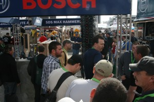 Bosch kept the action and the music lively at its outdoor demo area.