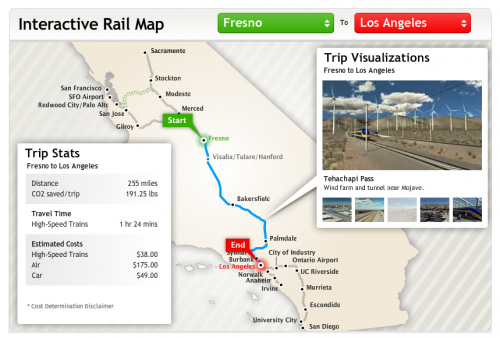 California's proposed high-speed rail system would run between Fresno and LA.