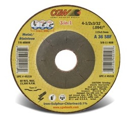 CGW's New 3-in-1 Cut/Grind/Finish Wheels Provide High Performance and Efficiency in a Single Disc