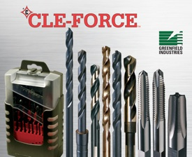Greenfield Industries introduces Cle-Force, a value line of high-speed steel drills and taps for the maintenance, construction and industrial markets. This line is a part of the Cle-Line brand of cutting tools which has been a market leader for decades.