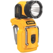 The DeWalt 12 Volt MAX* work light is barely larger than its battery.