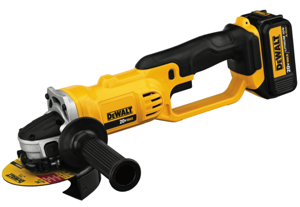 One of DeWalt's niftiest new products is the 20V MAX 4 ½ inch Cordless Cut-Off Tool, the model DCG412.