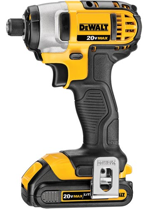 The DCF885C2 (shown) and DCF885L2 new impact drivers feature a ¼-inch hex chuck capable of one-handed bit loading.