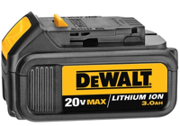 Dewalt's new 20 Volt MAX Lithium Ion batteries are offered in 1.5 Amp Hour (Ah) (DCB201) and 3.0 Ah (DCB200) configurations. The 1.5-Ah batteries will charge in 30 minutes; the 3.0 Ah batteries in 60 minutes.