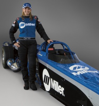 Driver of Miller's Jet Dragster, Elaine Larsen has over a decade of drag racing experience and is only one of a few women who race Jet cars. Fans can meet Elaine and the rest of the Larsen Motorsports team at scheduled track events.