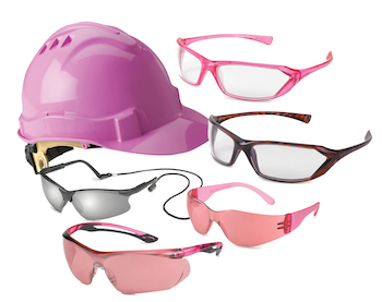 Gateway Safety's GirlzGear collection includes several different styles of safety eyewear with features for the female worker.