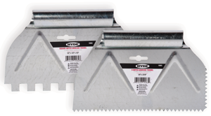 Hyde Tools has rolled out a new line of economical adhesive spreaders, each designed with two notched sides.
