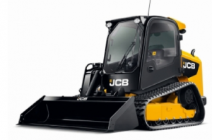The American-made JCB 300T track loader
