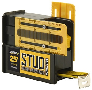 The patented Stud-Squared Power Tape from Johnson Level & Tool.