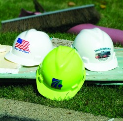 MSA's Logo Express service adds custom logos and artwork to hardhats.