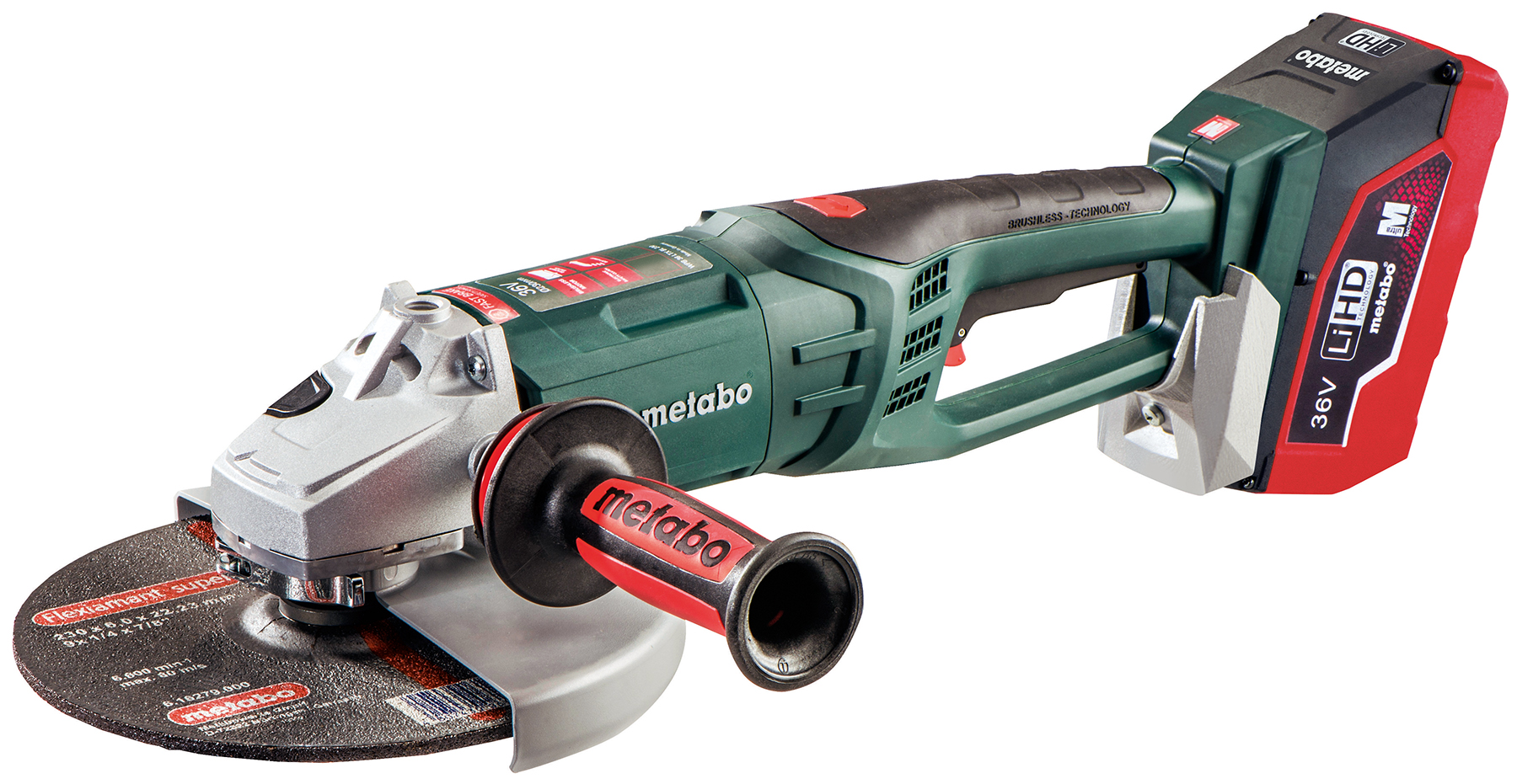 metabo wpb 36 ltx bl 230 9 inch cordless grinder contractor supply magazine. Black Bedroom Furniture Sets. Home Design Ideas