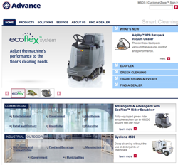 Advance announces its new website with an enhanced structural design and efficient navigation tools for improved product selection and comprehensive service information.