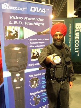 Bluecolt's president Jaspreet Singh Sawhney is now expanding his company's military-grade DV4 video recording flashlight into new markets, including the construction sector.