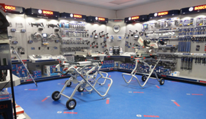 The new Bosch System Specialists store at Ohio Power Tool is a self-contained tool store within a store. Photo courtesy of Ohio Power Tool.