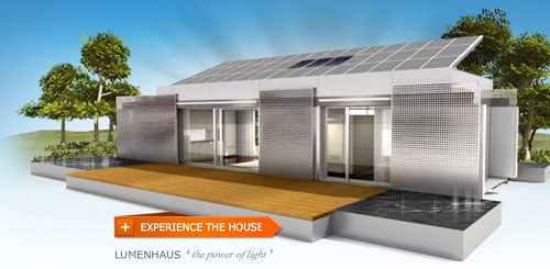 "Virginia Tech's innovative net zero energy, solar powered, super-insulated ""LUMENHAUS"" won first prize in Europe's 2010 Solar Decathlon."