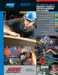 MSC Industrial Direct Co., Inc. has announced the release of its 2011 Norton/Merit Abrasive Products Catalog.