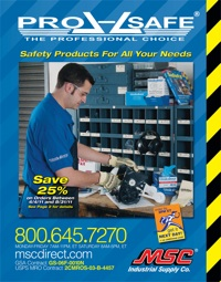 MSC Industrial Direct Co., Inc., has launched its new PRO-SAFE safety products catalog in both print and online formats.