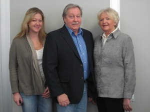 Manasquan Premium Fasteners founders Bob (C) and Linda (R) Dey now also work with daughter Nicole (L) to serve a growing global customer base.