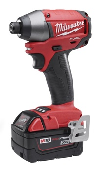 A centerpiece of Milwaukee's M18 FUEL cordless line is the model 2653-22 ¼-inch Hex Impact Driver.
