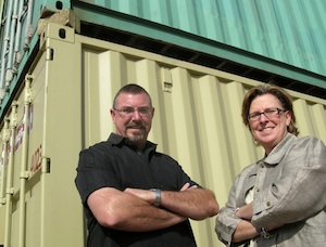 (L-R) Patrick and Leslie Horn lead Three Squared, Inc., a property development market leader in the cargo-based construction industry.