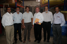 Ajay Kulkarni (left) has been named managing director of Powers Fasteners' new facility in Mumbai, India. Jeff Powers (center right), Powers' global president, was there to inaugurate the facility.