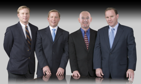 Left to Right: Frederic Powers III, President; Jeffrey R. Powers, CEO; Mike Fergus, VP of Purchasing; Chris Powers, Chairman