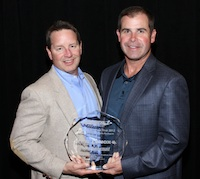 Irwin Industrial's Chris Renfroe and Sean Cassidy accept the Sphere 1 Vendor Partner of the Year award for 2012..