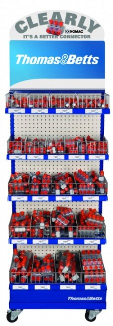 Thomas & Betts is offering a free merchandising display rack and a free bonus counter display with a qualifying order of certain Homac connector products through December 31, 2010.