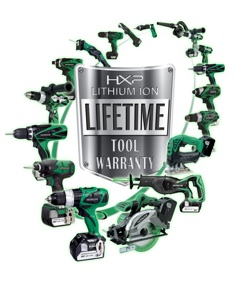 Hitachi is proud to offer an exclusive Lifetime Lithium Ion tool warranty to the original purchaser on HXP Lithium Ion cordless tools.
