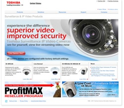 Toshiba Surveillance & IP Video's new website features improved functionality and easier navigation.