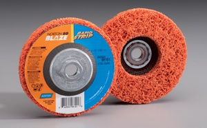Norton SG Blaze Rapid Strip features the combination of Norton's proprietary SG ceramic alumina grain and an open, aggressive mesh structure that makes it the fastest cutting and longest-lasting stripping disc available.