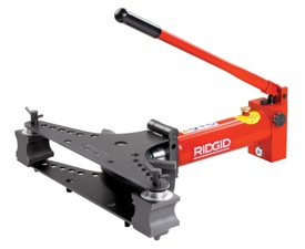 The new, easy-to-use RIDGID Manual Hydraulic Benders are designed for precise cold bending of standard gas pipe (DIN 2440), black steel schedule 40 (ASTM A53) pipe and stainless steel schedule 40 pipe.