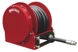 "Reelcraft introduces the new Series SD10000 low profile spring retractable hose reels. These hose reels are designed to facilitate larger diameter 3/4"" and 1"" hose up to 50 feet in length."