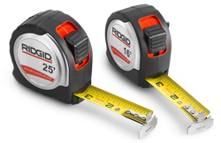 Ridgid levels and tape measures contractor supply magazine lightweight and easy to carry the ridgid locking steel tape measures are designed with a aloadofball Images