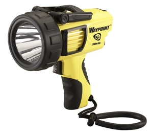 Streamlight, Inc. introduces a lithium-ion rechargeable version of its Waypoint spotlight.