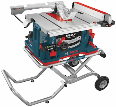 The long-awaited Bosch REAXX Jobsite Table Saw with flesh-detecting Active Response Technology will become available in June.