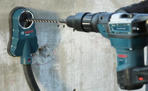 Safety Bosch Hammer Vacuum And Right Angle Attachments