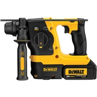 The new dewalt 20 Volt MAX Lithium Ion SDS rotary hammer (DCH213L2) drills up to 20 percent more holes per charge than existing DEWALT offerings.