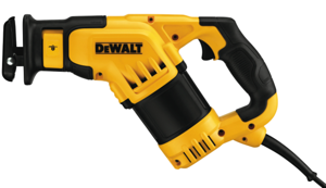 The new DeWalt DWE357 Recip Saw features a unique, compact configuration that provides outstanding control and balance compared to traditional reciprocating saw designs.