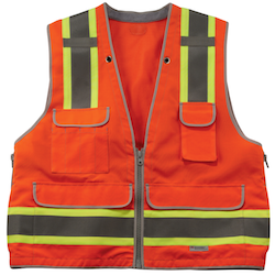 Ergodyne Announced Today The Expansion Of Their GloWear Line To Include 8254HDZ Class 2 Heavy Duty Surveyors Vest Available January 2013