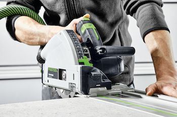 When used with a CT Dust Extractor, Festool's new Diamond PCD Saw Blade cuts all cement and gypson-bonded chipboard precisely and with minimal dust.