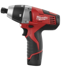Milwaukee's M12 Cordless No-Hub Coupling Driver weighs 2.75 pounds.