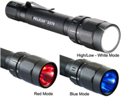 Pelican Products has developed the 2370 LED multi-color flashlight.