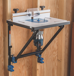 Rockler convertible benchtop router table contractor supply magazine rockler woodworking and hardware has introduced a versatile highly portable router table system that allows the user to switch from table routing to greentooth Images
