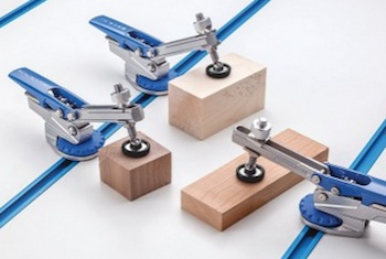Material Handling: Rockler Auto-Lock T-Track Hold Down Clamp