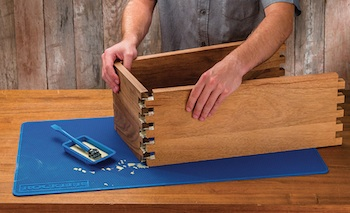 Rockler Woodworking and Hardware has introduced the Silicone Project Mat, a flexible, textured work surface for projects that offers quick and easy cleanup and protects the underlying area from potential damage.
