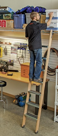 Other Products Rockler Rolling Utility And Library Ladder Kits Contractor Supply Magazine