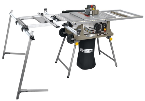 ... table saw features an optional finisher and sliding table attachment