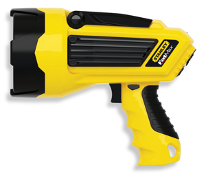 The classic ray gun is reborn, Stanley style: the LED lithium ion rechargable spotlight.