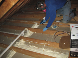 When it comes to selling sealants and low pressure SPF insulation, post photos next to the products on shelves, on your website and in other areas to show application areas such as rim joists, recessed can lights and attic baffles.